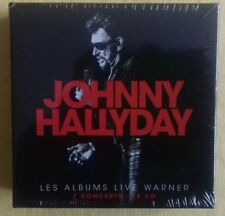 JOHNNY HALLYDAY Coffret LES ALBUMS LIVE WARNER