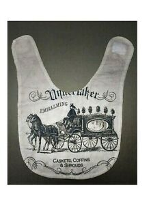 Funeral Mortuary Embalming Velcr Baby Bib Horse & Carriage Casket Coffin