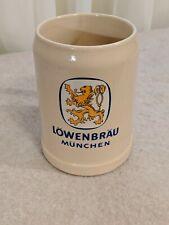 German Beer Stein Munchen Lowenbrau Lion Yellow .5L