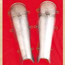 ROMAN SOLDIER LEGIONAIRE CENTURION Steel Knee Shin Leg Guard GREAVES ARMOR New