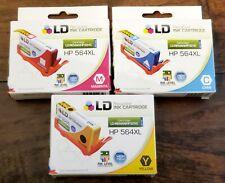 564XL Ink Cartridges for HP Photosmart 6510 6520 7510 7520 5520 Magenta Cyan Yel