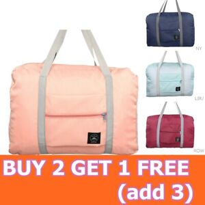 Folding Travel Duffel Bag Tote Carry on Luggage Baggage Overnight Storage Bag CO