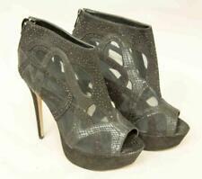 Ladies Black RIVER ISLAND High Heel Platform Shoes 6'' Uk Size 7 NEW Lot SF35