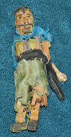 AWESOME TINY PRIMITIVE ANTIQUE/VINTAGE HAND CARVED WOOD JOINTED DOLL!!