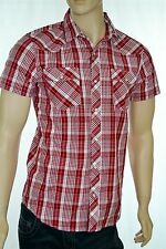 Levi's Mens Modern Fit Snap Front Western Shirt Red Plaid Size Medium New w/tags