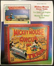 Saint Vincent- Disney Mickey Mouse Circus Train Stamp- Souvenir Sheet MNH