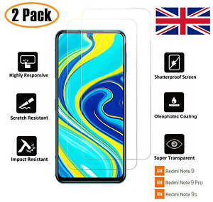 For Xiaomi Redmi Note 9 Note 9 Pro Note 9S Clear Tempered Glass Screen Protector