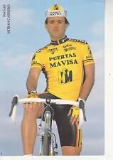 CYCLISME carte cycliste JOSE LUIS MORAN CABRERO équipe PUERTAS MAVISA 1992