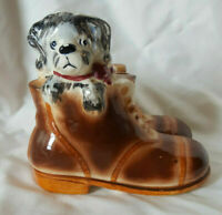 Vintage Puppy Dog and Boot Shoe Planter Ceramic/Porcelain