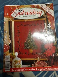embroidery & cross stitch magazine special christmas edition complete