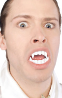 Adults White Vampire Fangs Teeth Halloween Fancy Dress Costume Accessory