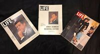 VTG Lot Of 3, 1963 JFK LIFE MAGAZINES! 11/29/63, 12/6/63 & JFK Memorial Edition