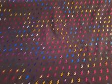 Cotton Jersey Fabric navy lightening bolt 150cm Wide