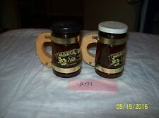Vintage Amber Glass Mug Style Salt and Pepper Shakers MAINE