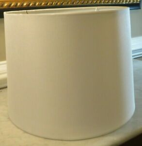 "Drum Lamp Shade Linen White Hampton Bay 859184 12"" x 14"" x 10"""