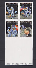MARSHALL ISLAND STAMPS SC# 583-586  IMPERF BLK OF 4 1969 1st MAN ON MOON MNH