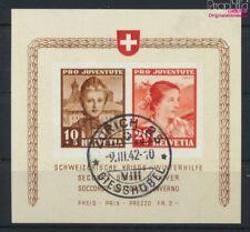 Suisse Bloc 6 oblitéré 1941 guerre-aide d'hiver (9036530