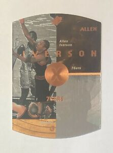 Allen Iverson 1997-98 Upper Deck SPx Bronze Holo Holographic Die Cut Card #30