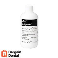 Dental Acrylic Tooth Lang Jet Denture Repair Liquid 236 ml (8 oz) Bottle 1404