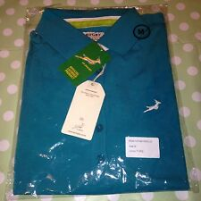 Turquoise South Africa Springbok Rugby Polo Shirt / Top Style SADL09 Medium New