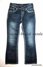 SILVER JEANS SUKI Womens Size 26 x 30 Dark Faded Wash Bootcut Boot Thick Stitch