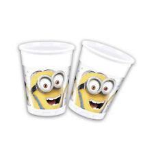 NEU Becher Minion Party, 200 ml, 8 Stück Einwegbecher