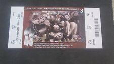 NFL- N.E. PATRIOTS VS. SEATTLE SEAHAWKS-10/17/2004-FULL TICKET BRADY WINS #45