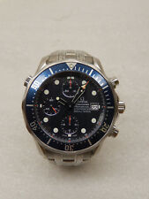 Omega Seamaster Chrono Diver 300m Blue Dial Steel Mens Watch