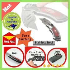 Knife Folding Cutting Blade, Belt holder Pouch 6 Blades, Pocket Clip - Easy Use