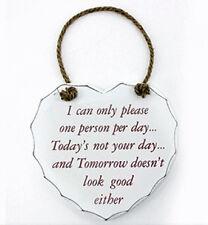 Por favor, una persona un día monumental cartel/Placa