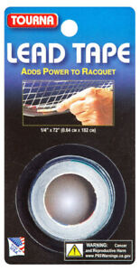 """Tourna LEAD TAPE - Adds Power to Racquet - 1/4"""" x 72"""" (0.64cm x 182cm) Roll"""