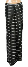 160790 NWD Freee People Striped Sequin Embellished Black Trousers Pant Large LUS
