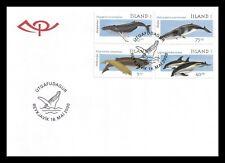 Iceland 2000 Fdc, Marine Mammals Ii, Whales. Lot # 3.