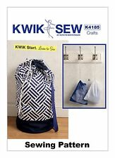 Kwik Sew K4185 Kwik Start Learn to Sew PATTERN Laundry & Drawstring Bags OSZ