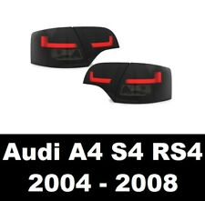 AUDI A4 S4 RS4 B7 8E AVANT 04-08 SMOKED LED REAR LIGHTS DYNAMIC INDICATORS