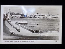 POST CARD Pontoon Bridge Curacao Netherlands West Indies N.W.I VINTAGE POSTCARDS