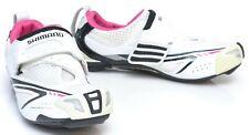Shimano SH-WT60 Women Carbon Triathlon Shoes EU 36 US 5.1 3 Bolt White SPD SL