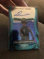 2020 Certified DeeJay Dallas Rookie Autograph card!! Seahawkss!! 12/15!