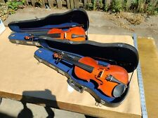 Skylark violins Two 2 full size outfits, bow, case, locking student