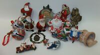 Estate Lot of 16 Assorted Santa Claus Christmas Ornaments