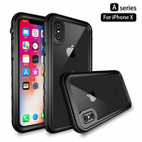 IP68 Hybrid Rubber Luxury Waterproof Shockproof Phone Case Cover for iPhone XS/X