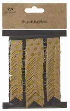 BROWN & GOLD PAPER RIBBON GARLAND 3 METRES GIFTS CRAFTING