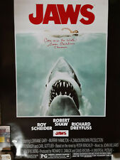 Jaws 24x36 autographed Movie poster Come in the water Jsa Certified 1st Victim