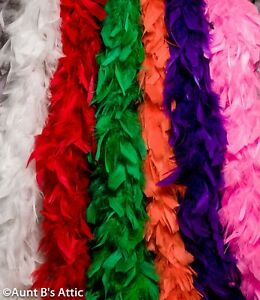 """Feather Boa Colorful Chandelle Feather Boas 55-60gm 72"""" long Costume Accessory"""