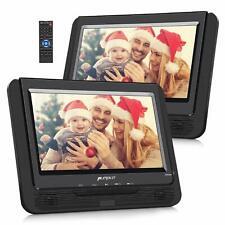2X9'' Auto Kopfstütze TFT Dual Monitor Tragbarer DVD/CD/MP3 Player USB SD Memory