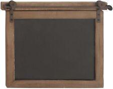 Farmhouse Chalkboard Wood Rectangular Rusted Brown Iron Top Rail Quality Sturdy