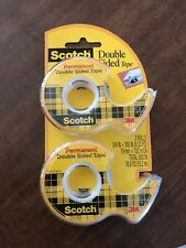 New listing 3M Scotch Double Sided Tape Permanent Photo Safe 2Pk 237