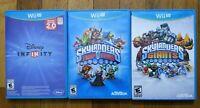 USED Disney Infinity 2.0 + Skylanders Trap Team + Giants Wii U - Lot of 3 Bundle