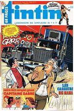 B19- Tintin N°428 Les Casseurs,Capitaine sabre,Harrison Ford +Poster Jugurtha