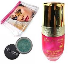 ITAY Beauty Sparkle Gel  (Refillable Glass)+ Glitter Powder Blink Green G03 +Bag